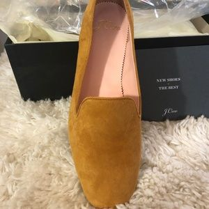 J CREW CAMEL SUEDE CLASSIC FLATS NW BOX